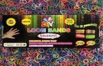 Komplekts bižutērijas izgatavošanai Loom Bands, 600 gumijas