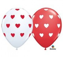 Baloni 28cm QUALATEX Sirsniņas