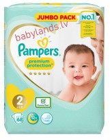 Pampers Premium Protection  2 (4-8kg) 68gb.  ( autiņbiksītes )