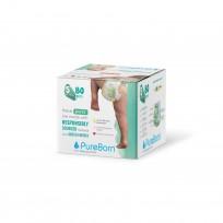 PureBorn ekoloģiskas uzvelkamās autiņbiksītes-biksītes. 5 (12-16kg) 80gb.