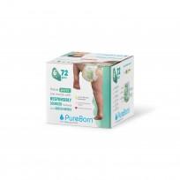 PureBorn ekoloģiskas uzvelkamās autiņbiksītes-biksītes. 6 (16+kg) 72gb.