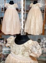 Bērnu Roza kleitiņa krīstībam no 100% kokvilna