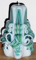 Grieztā svece S17K01 12 cm