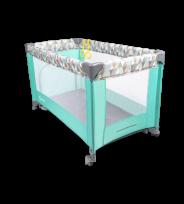 Saliekamā gulta ADRIAA NEW turquoise scandi , Lionelo